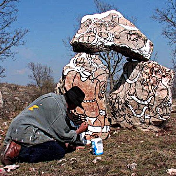 créez votre jardin de pierres peintes